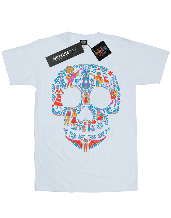Disney Women's Coco Skull Pattern Boyfriend Fit T-Shirt