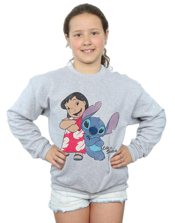 Disney Girls Lilo And Stitch Classic Sweatshirt | Absolute Cult
