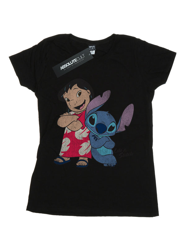 Disney Women's Lilo And Stitch Classic Boyfriend Fit T-Shirt | Absolute Cult