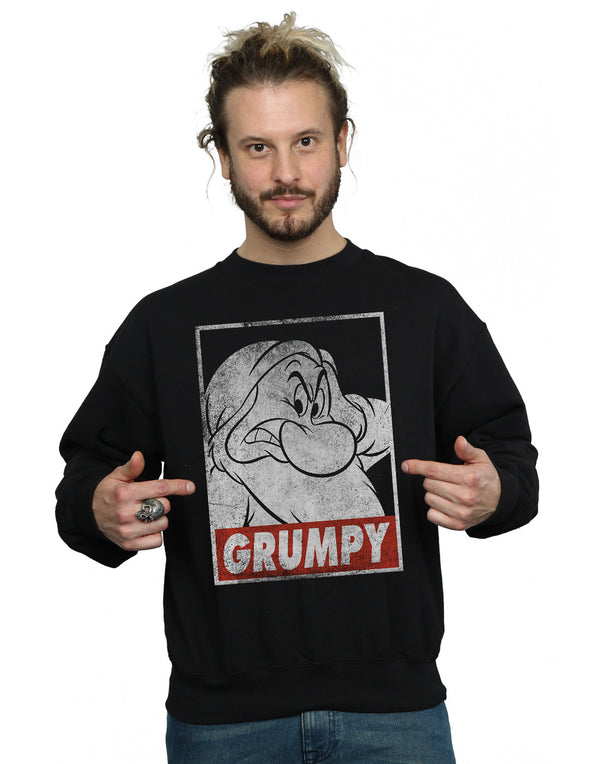 Disney Men's Snow White Grumpy Dwarf Poster Sweatshirt | Absolute Cult