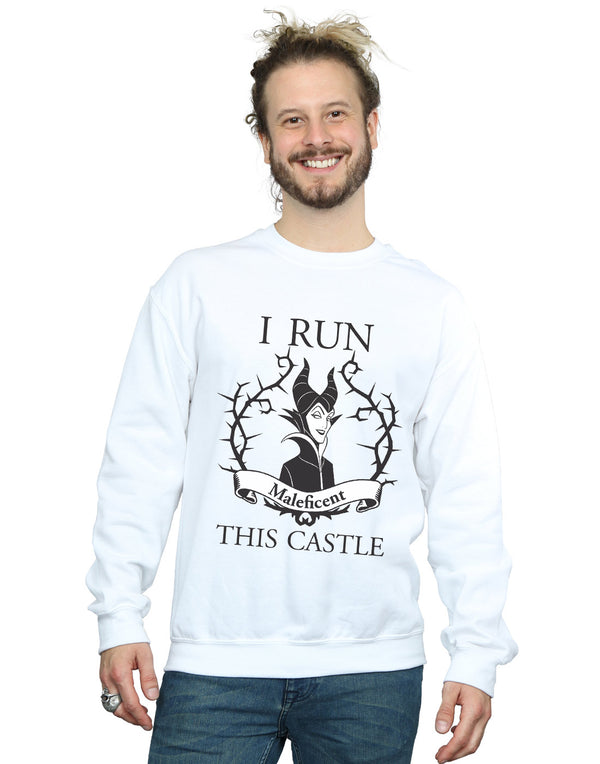 Disney Men's Maleficent I Run This Castle Sweatshirt | Absolute Cult