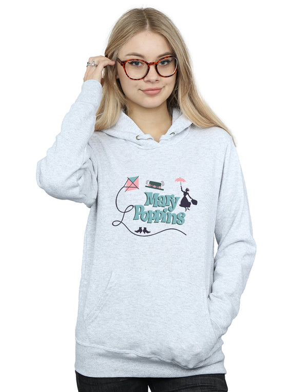 Disney Women's Mary Poppins Logo Hoodie