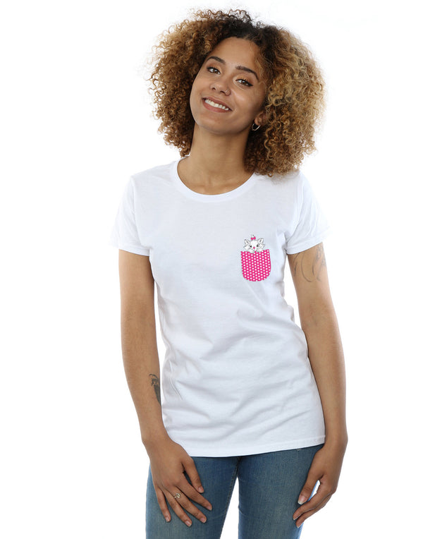 Disney Women's Aristocats Marie Chest T-Shirt | Absolute Cult