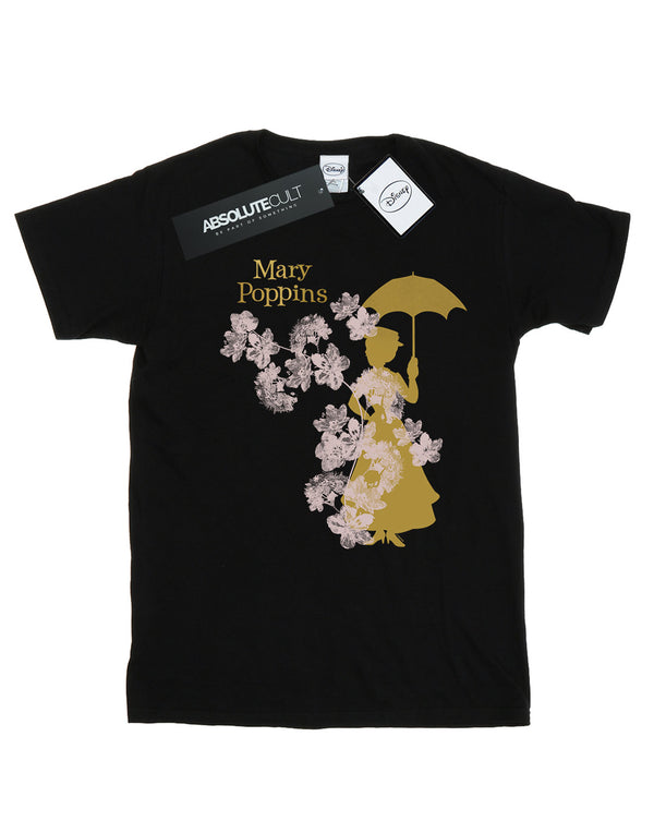 Disney Girls Mary Poppins Floral Silhouette T-Shirt