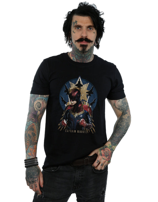 Marvel Men's Captain Marvel Jet Burst T-Shirt