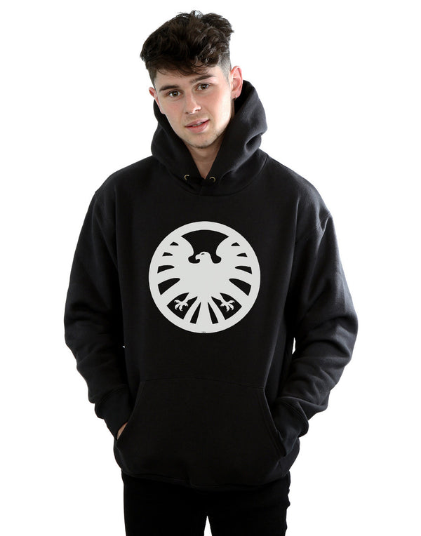 Marvel Men's Captain Marvel Nick Fury SHIELD Hoodie