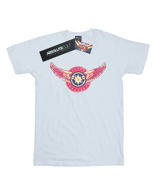 Marvel Men's Captain Marvel Wings Patch T-Shirt | Absolute Cult