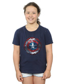 Marvel Girls Captain America Civil War Hex Shield T-Shirt
