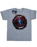 Marvel Men's Captain America Civil War Hex Shield T-Shirt