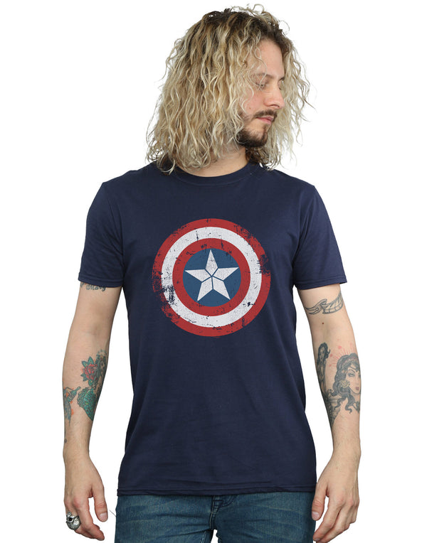 Marvel Men's Captain America Civil War Distressed Shield T-Shirt | Absolute Cult