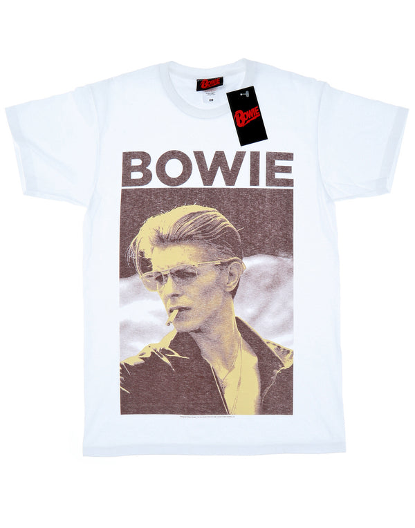 David Bowie Men's Smoking Photograph T-Shirt