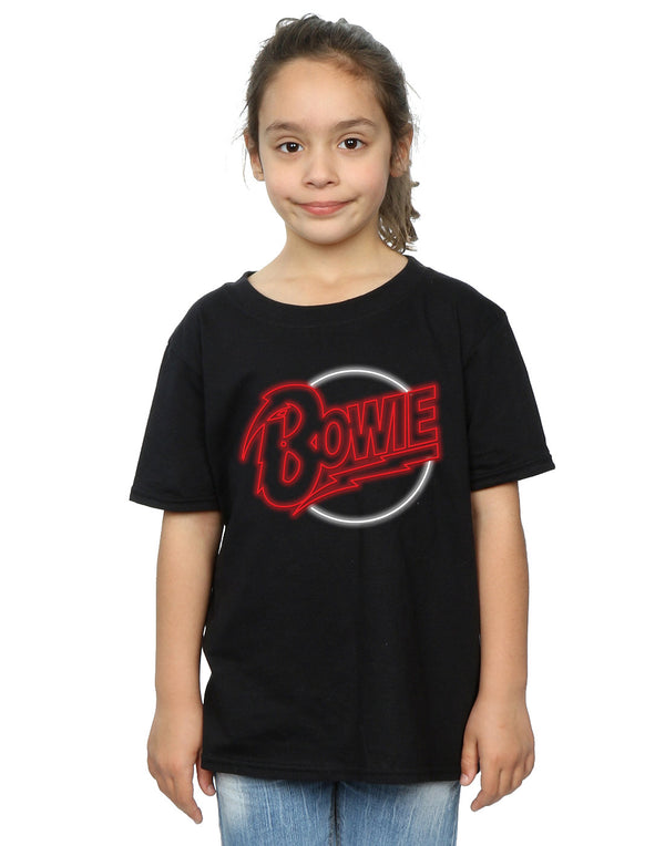 David Bowie Girls Neon Logo T-Shirt