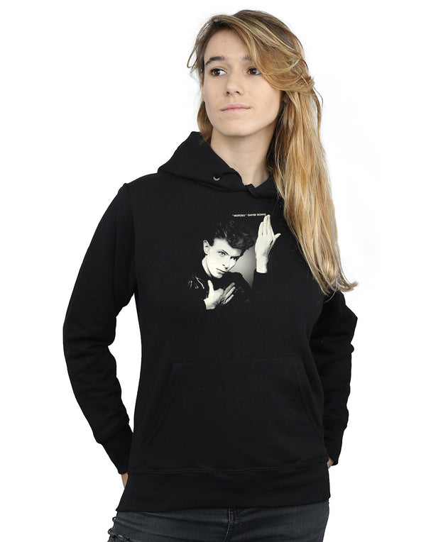 David Bowie Women's Heroes Album Cover Hoodie | Absolute Cult