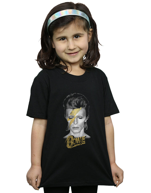 David Bowie Girls Aladdin Sane Gold Bolt T-Shirt