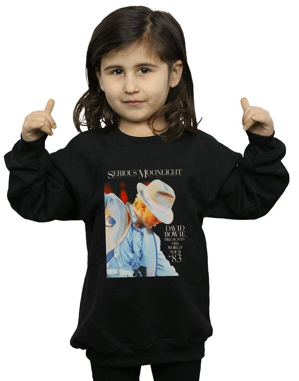 David Bowie Girls Serious Moonlight Sweatshirt