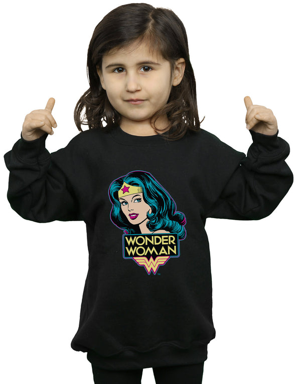 DC Comics Girls Wonder Woman Head Sweatshirt | Absolute Cult