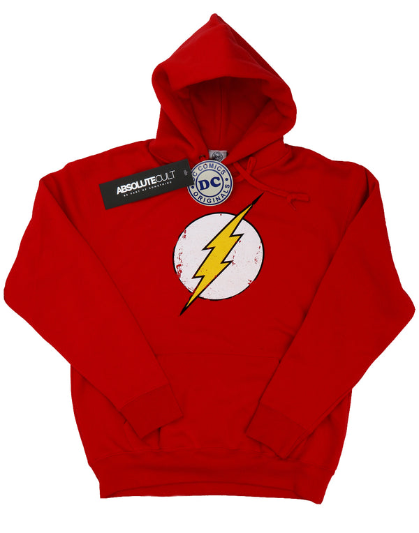 DC Comics Girls Flash Distressed Logo Hoodie | Absolute Cult