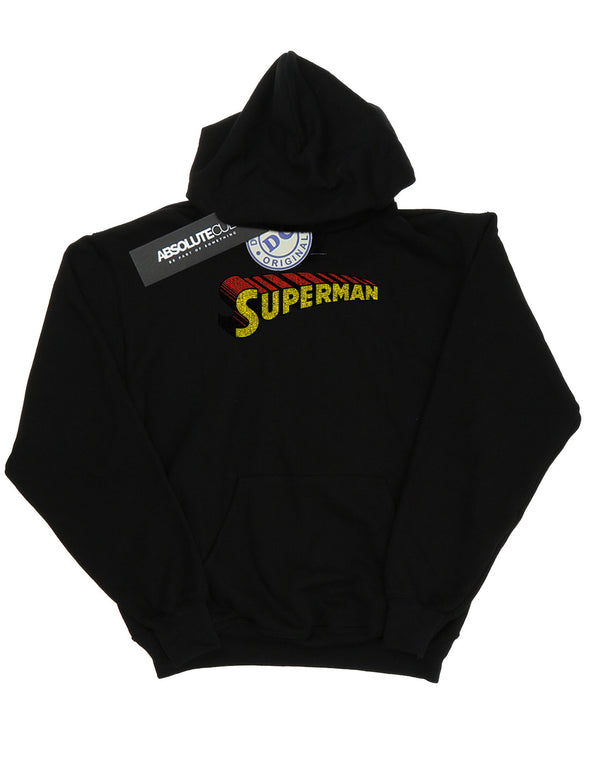 DC Comics Women's Superman Telescopic Crackle Logo Hoodie