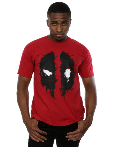 Marvel Men's Deadpool Splat Face T-Shirt Medium Brick Red Front Image