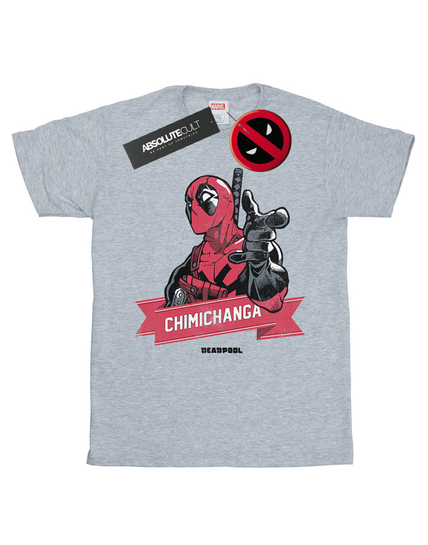 Marvel Women's Deadpool Chimichanga Finger Boyfriend Fit T-Shirt