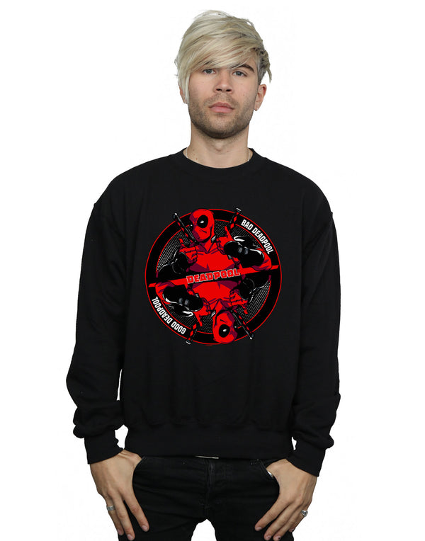 Marvel Men's Deadpool Good Bad Sweatshirt