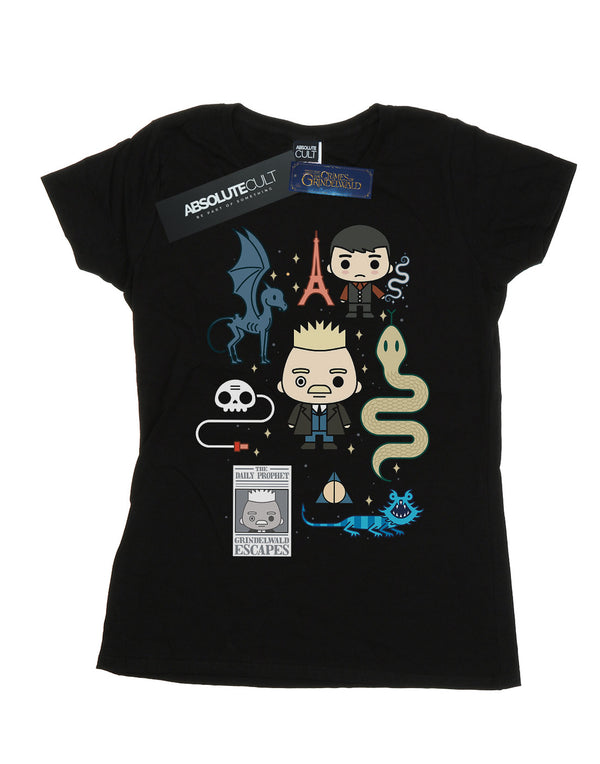 Fantastic Beasts Women's Chibi Grindelwald T-Shirt | Absolute Cult
