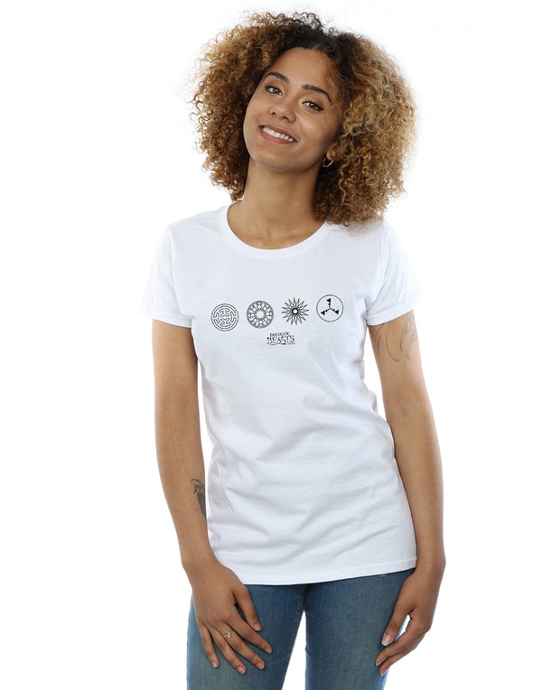 Fantastic Beasts Women's Circular Icons T-Shirt