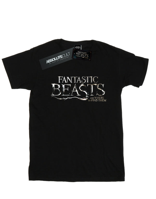 Fantastic Beasts Boys Text Logo T-Shirt