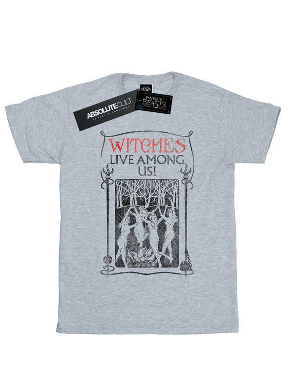 Fantastic Beasts Women's Witches Live Among Us Boyfriend Fit T-Shirt | Absolute Cult