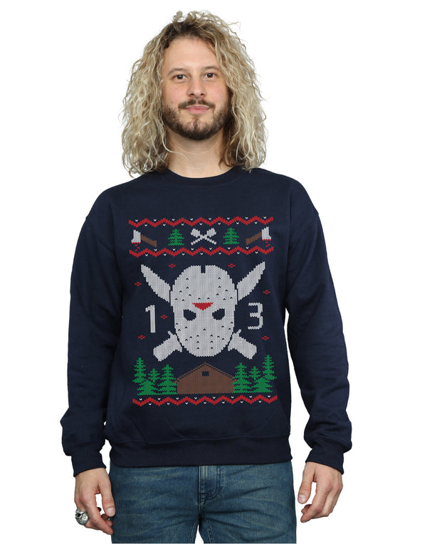Friday 13th Men's Christmas Fair Isle Sweatshirt | Absolute Cult