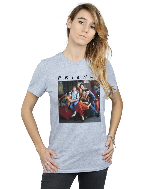 Friends Women's Group Photo Couch Boyfriend Fit T-Shirt | Absolute Cult