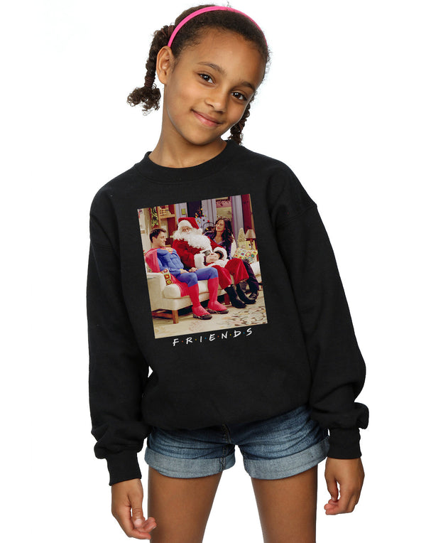 Friends Girls Superman And Santa Sweatshirt | Absolute Cult