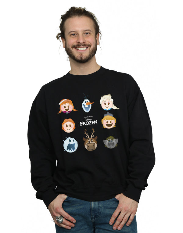 Disney Men's Frozen Emoji Heads Sweatshirt