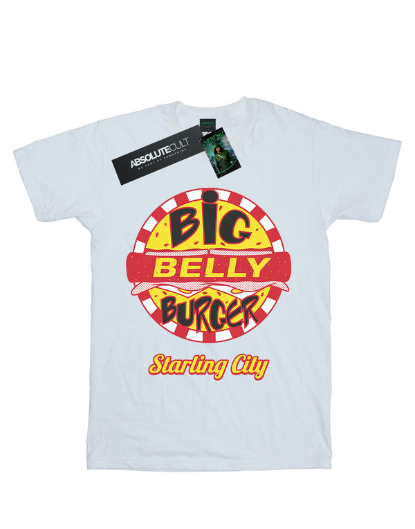DC Comics Men's Arrow Big Belly Burger Logo T-Shirt