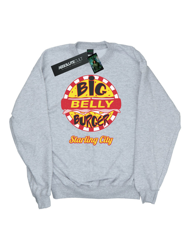 DC Comics Women's Arrow Big Belly Burger Logo Sweatshirt