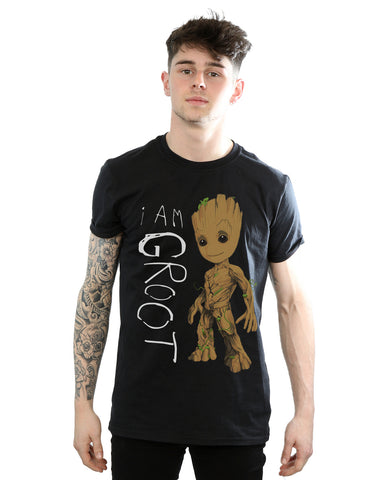 Marvel Men's Guardians of the Galaxy I Am Groot Scribbles T-Shirt Front Image
