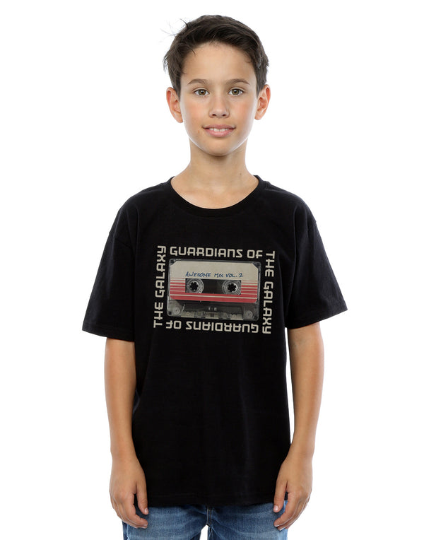 Marvel Boys Guardians Of The Galaxy Awesome Mix Cassette Vol. 2 T-Shirt | Absolute Cult