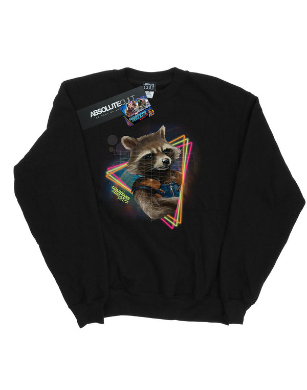 Marvel Men's Guardians Of The Galaxy Neon Rocket Sweatshirt