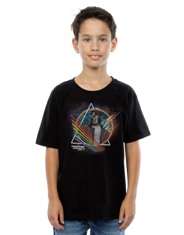 Marvel Boys Guardians Of The Galaxy Neon Star Lord Masked T-Shirt