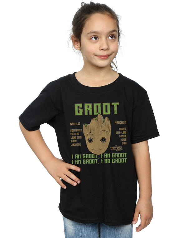 Marvel Girls Guardians Of The Galaxy Vol. 2 Groot Skills T-Shirt | Absolute Cult