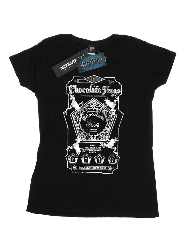 Harry Potter Women's Chocolate Frogs Mono Label Boyfriend Fit T-Shirt | Absolute Cult