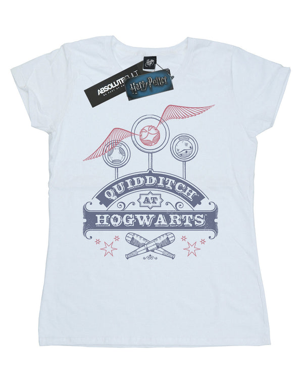 Harry Potter Women's Quidditch At Hogwarts T-Shirt | Absolute Cult