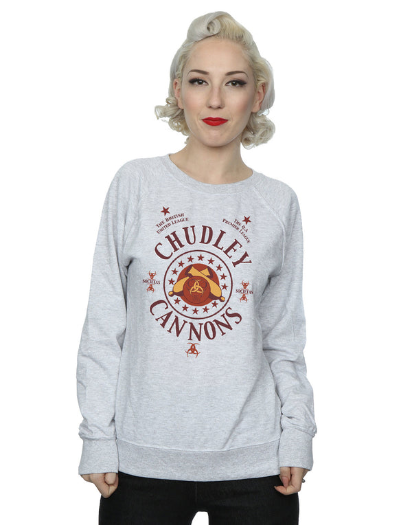 Harry Potter Women's Chudley Cannons Logo Sweatshirt | Absolute Cult