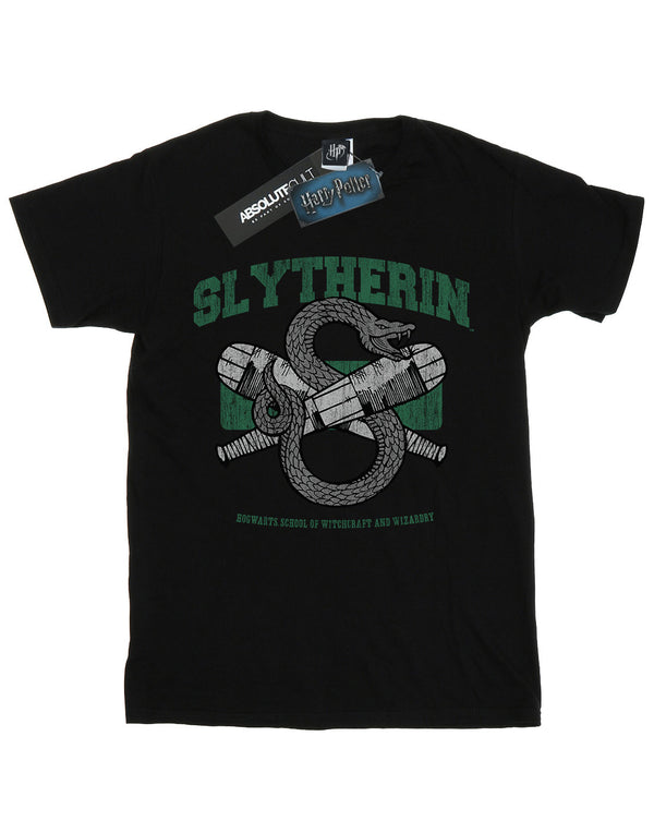 Harry Potter Girls Slytherin Quidditch Emblem T-Shirt | Absolute Cult