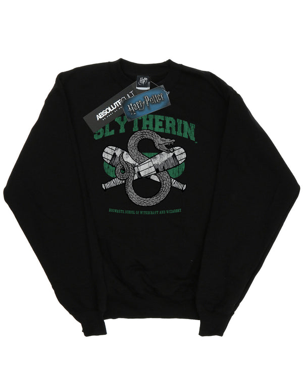 Harry Potter Girls Slytherin Quidditch Emblem Sweatshirt
