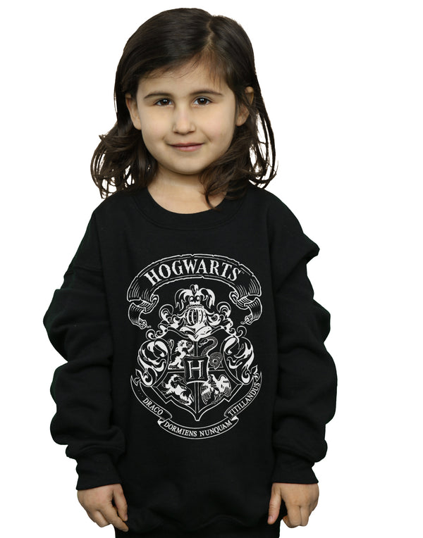 Harry Potter Girls Hogwarts Crest Sweatshirt | Absolute Cult