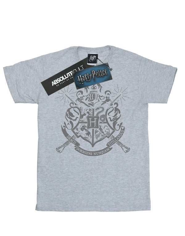Harry Potter Boys Hogwarts Badge Wands T-Shirt