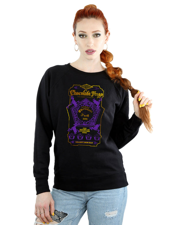 Harry Potter Women's Chocolate Frogs Coloured Label Sweatshirt
