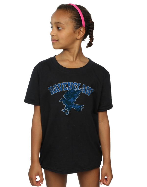 Harry Potter Girls Ravenclaw Sport Emblem T-Shirt | Absolute Cult