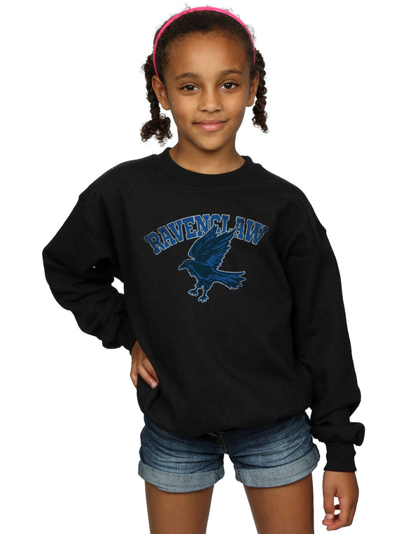 Harry Potter Girls Ravenclaw Sport Emblem Sweatshirt | Absolute Cult